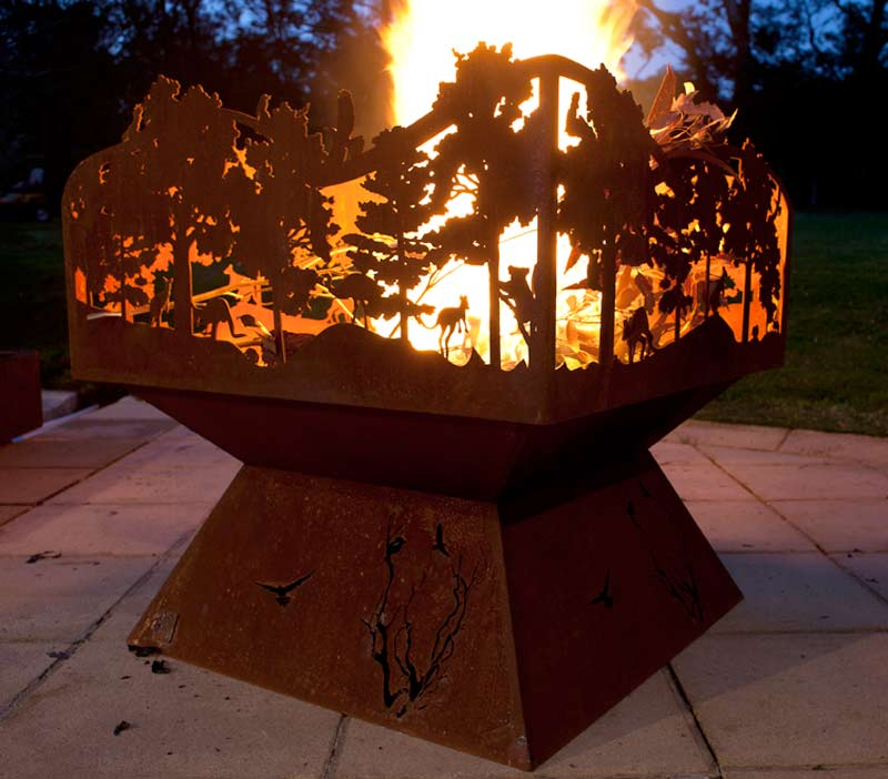 Shroud To Suit Fire Pit Po Box Designs